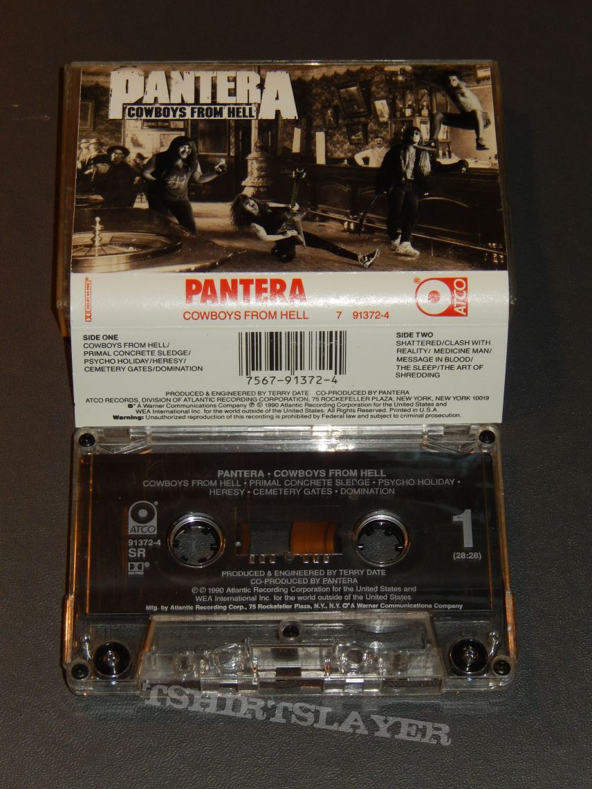 "Pantera ""Cowboys From Hell"" cassette"