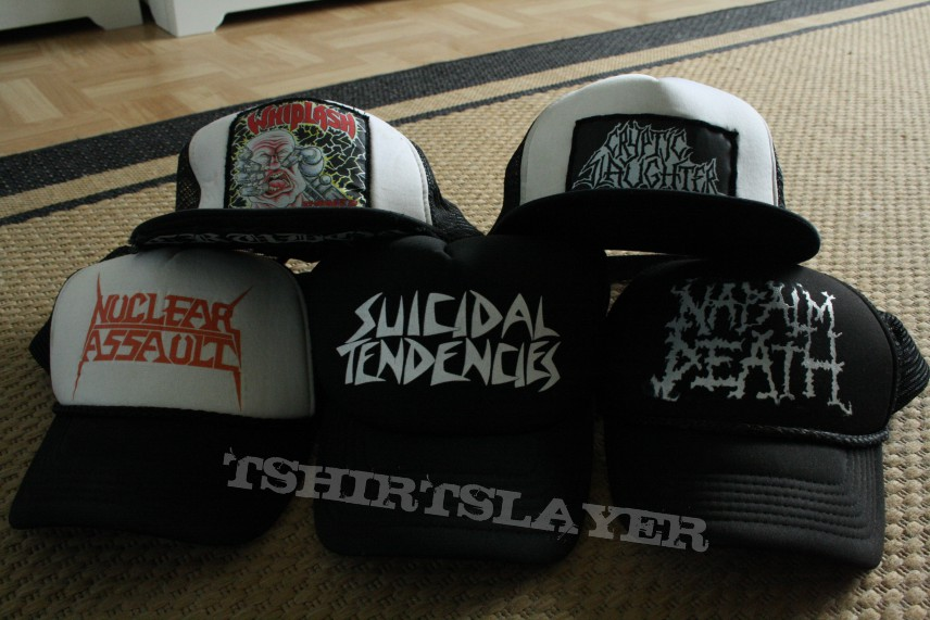 c0bcde1864d Napalm Death Nuclear Assault Suicidal Tendencies Whiplash Cryptic  Slaughter. Other Collectable - Trucker Caps