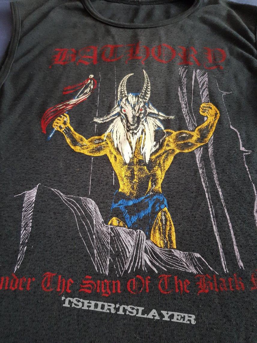 "Bathory ""Under the sign.."" MEGA RARE Hungarian print shirt"