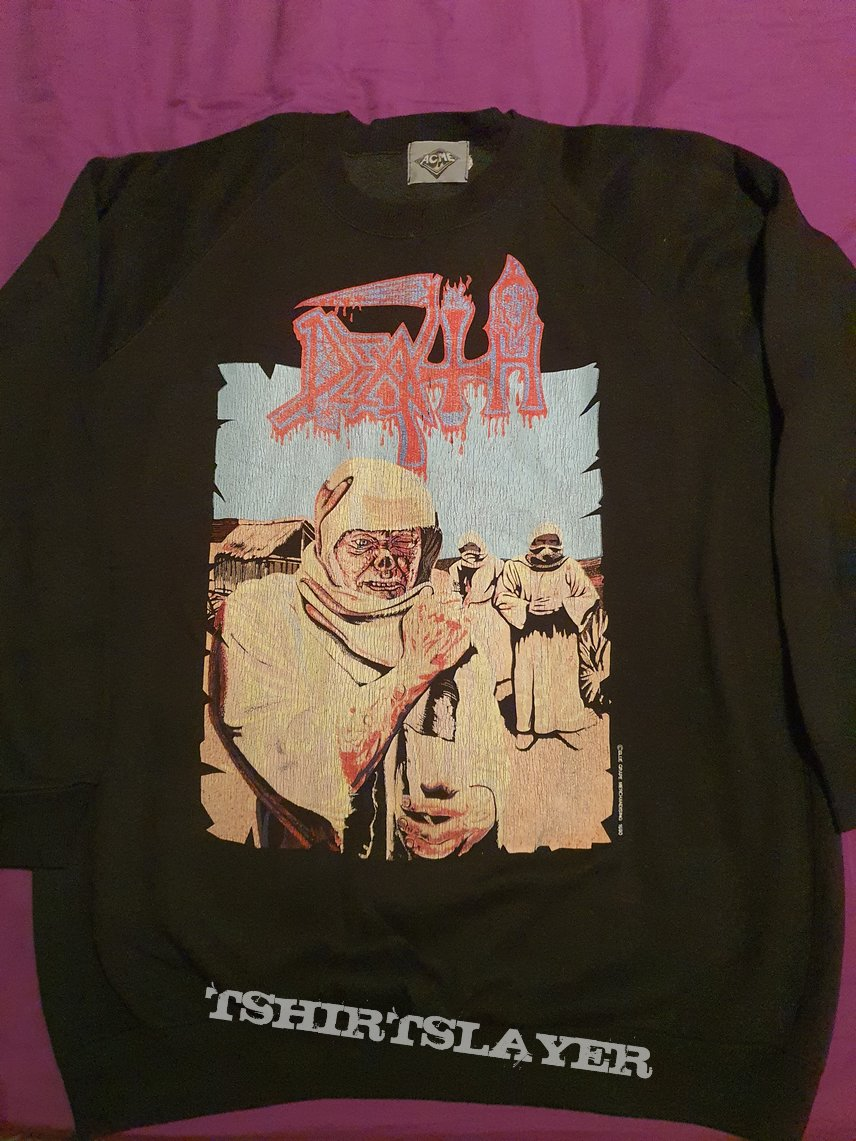 """Death """"Leprosy"""" 1990 sweater"""