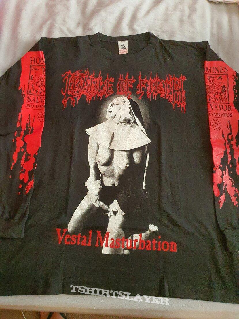"""Cradle of Filth """" Vestal Masturbation """" 1995 Longsleeve"""