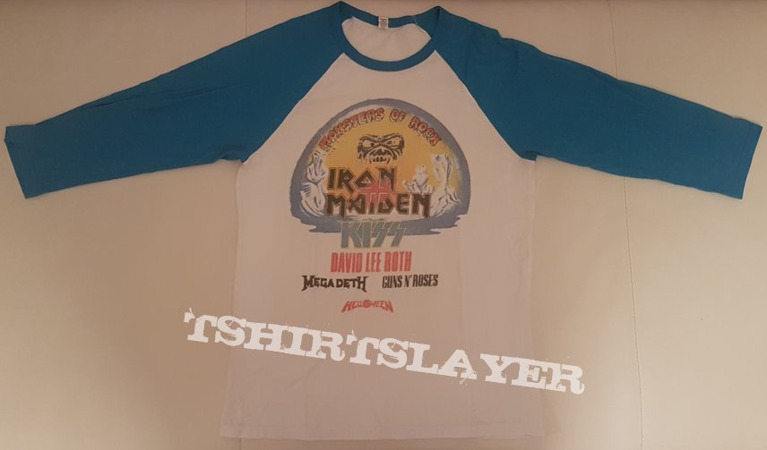 Monsters Of Rock 1988 Baseball Shirt