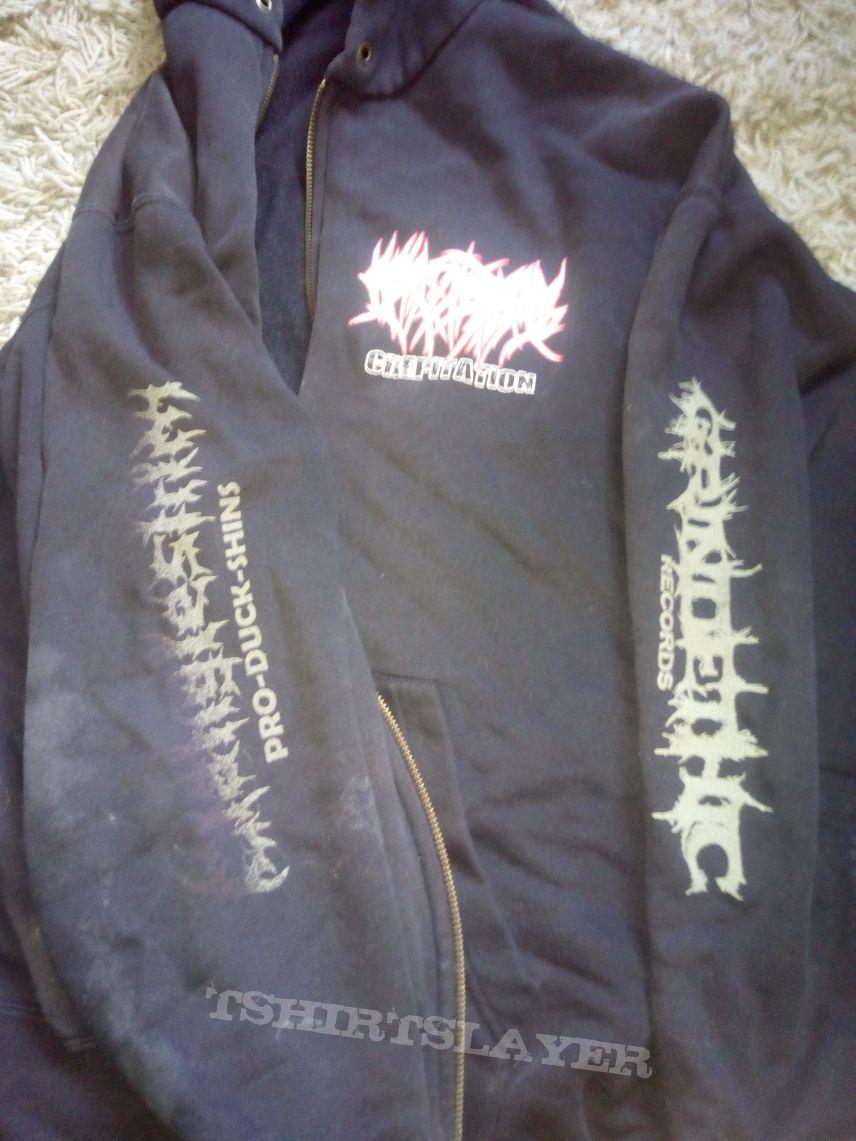 Crepitation zip hoodie  L