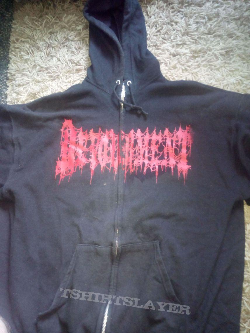 Devourment molesting the decapitated zip hoodie XL