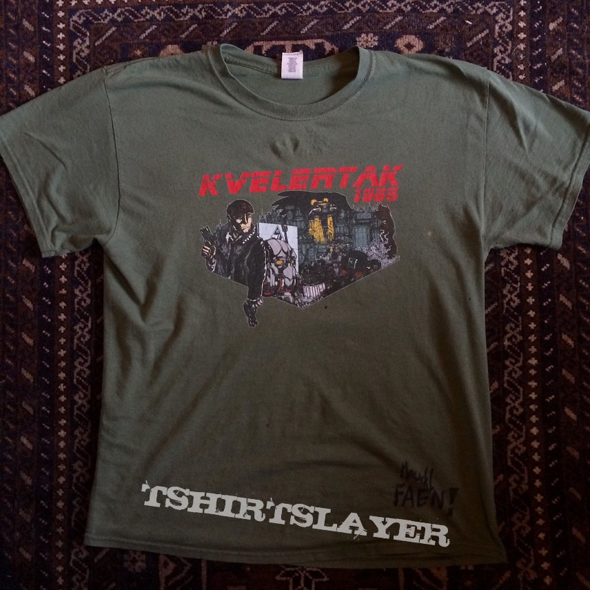 Official Kvelertak T-Shirt signed by Maciek Ofstad
