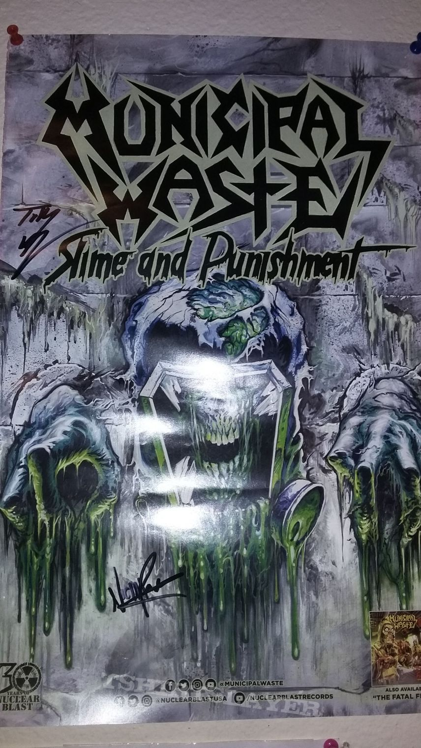 municipal waste signed poster