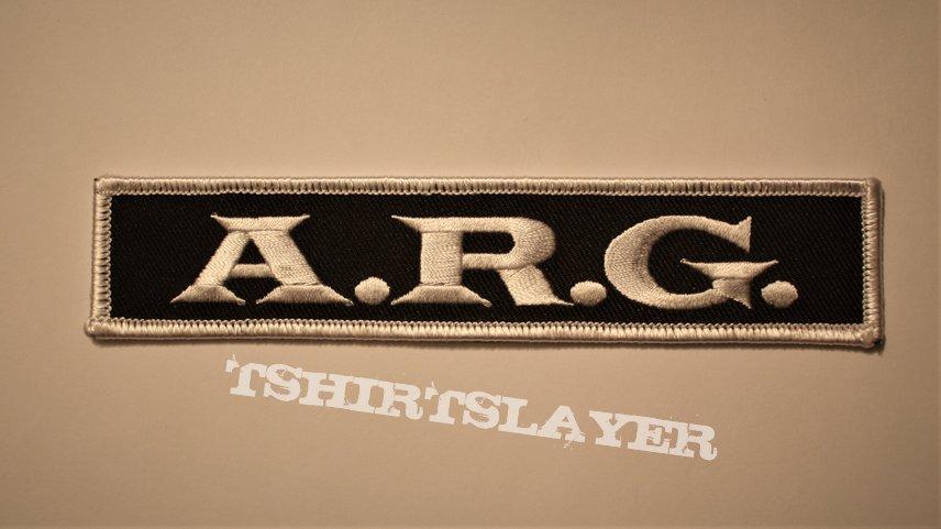 A.R.G. - band logo patch