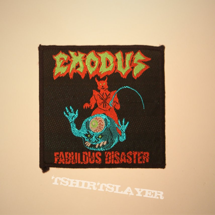 Exodus - Fabulous Disaster Woven patch