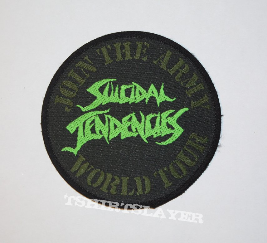Suicidal Tendencies - Join the Army World Tour Woven patch