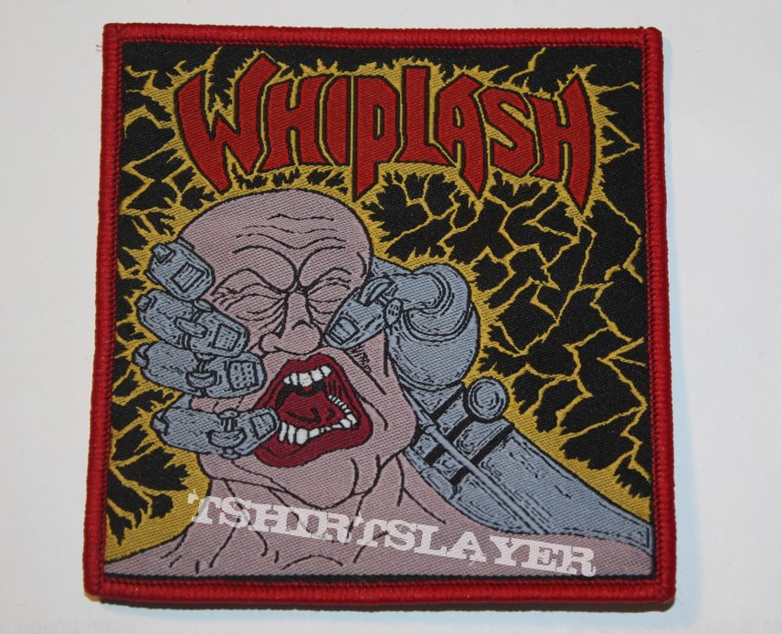 Whiplash - Power and Pain Woven patch