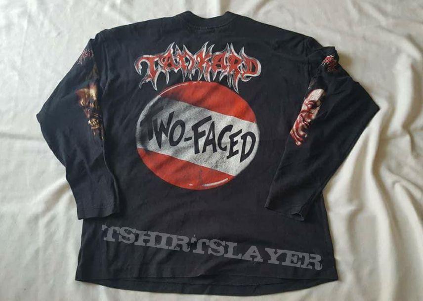 Vtg.Tankard LS Tshirt promo album Two-Faced 1994