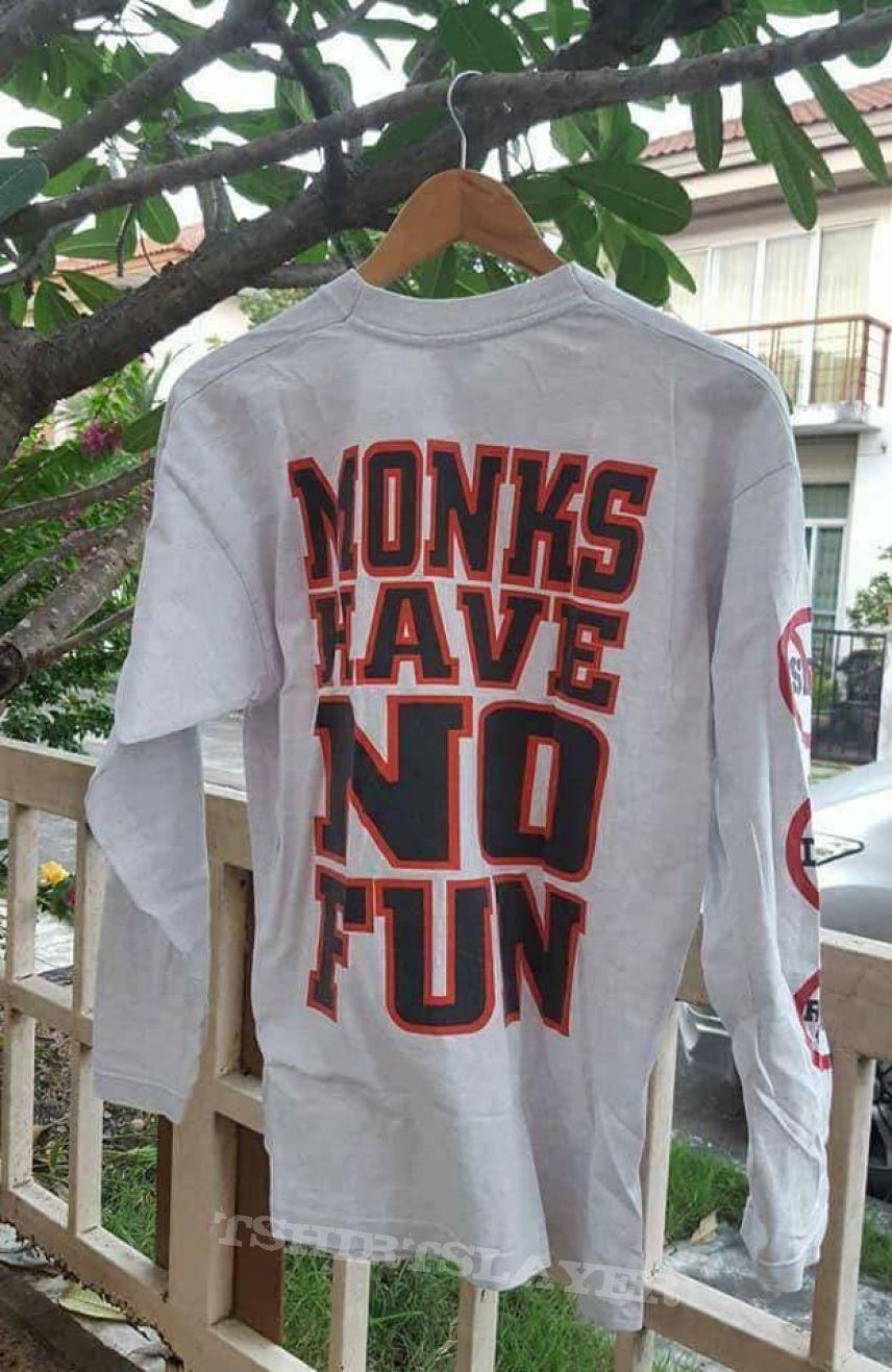 Original Vtg. Tankard Monk have no fun T-Shirt
