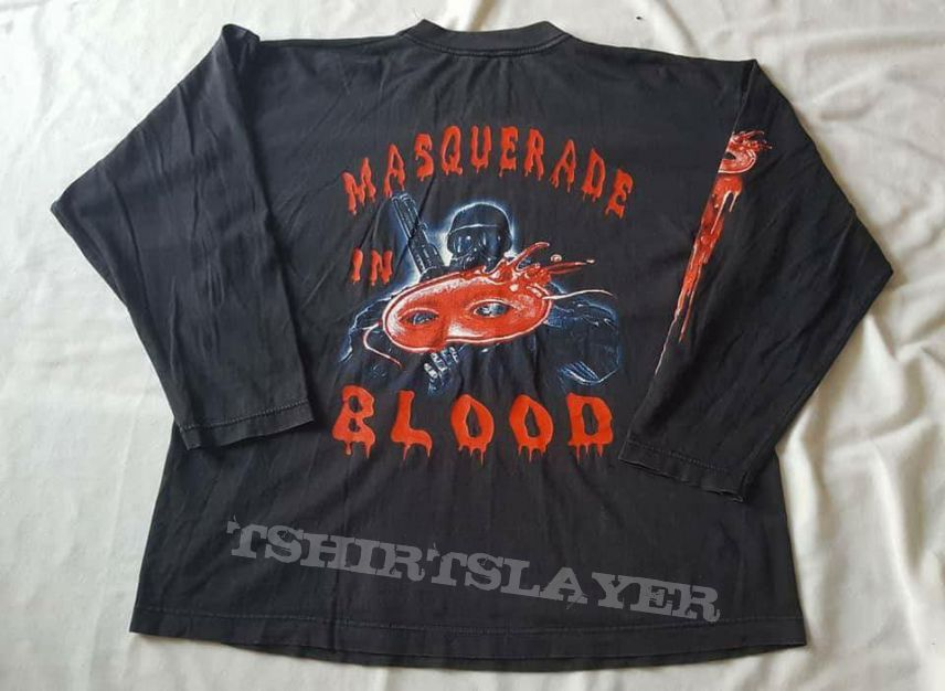 Vtg.Sodom LS Tshirt promo album Masquerade in blood 1995