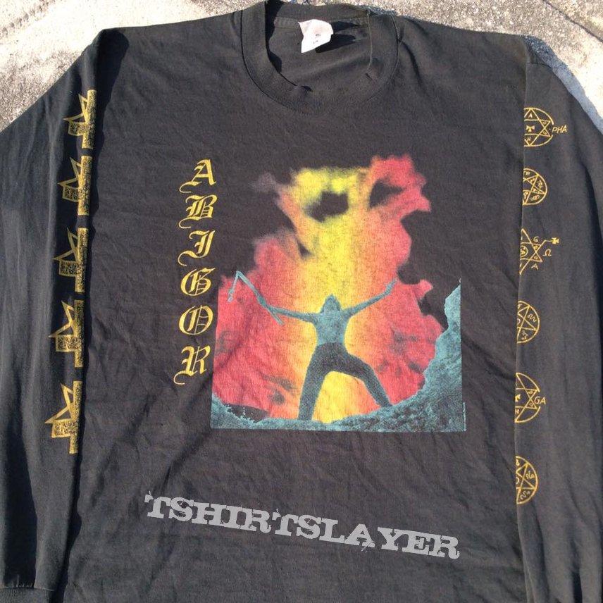 Vtg.1995 Abigor - Verwüstung / Invoke the Dark Age Long Sleeve T shirt