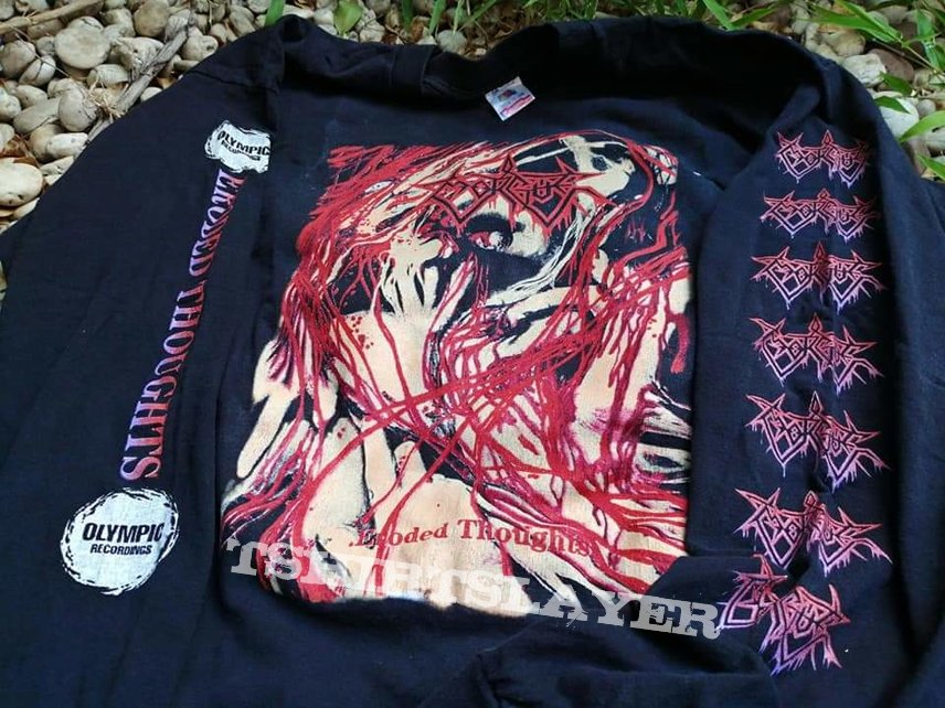 "Vtg.1993 Morgue ""Eroded Thoughts"" 1st &​ Only One Full-Length Album LS T Shirt By Olympic Recording, Inc."