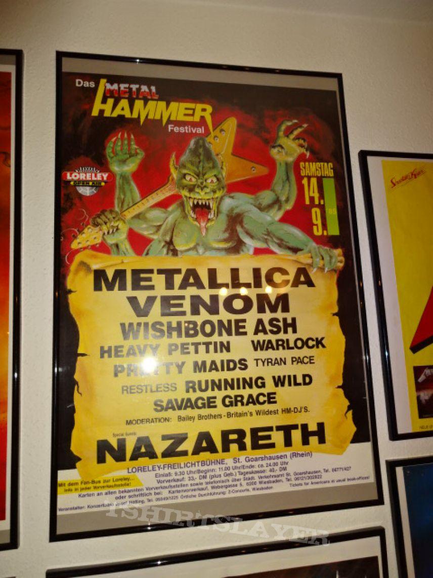 Metal Hammer Festival 14.09.1985, Germany (Poster)