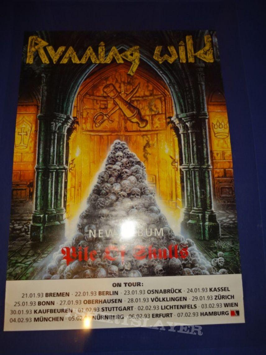 """Running Wild """"Pile of skull Tour 1993"""" (Poster)"""