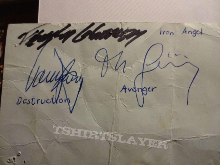 Avenger Concert-Ticket in Metzingen (Germany) 01.06.1985