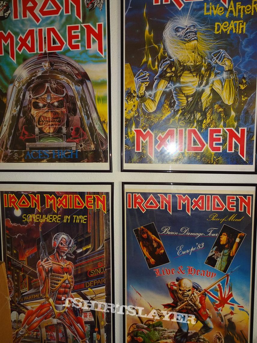 Iron Maiden POSTER Piece of Mind / Brain Damage Tour Europe 1983