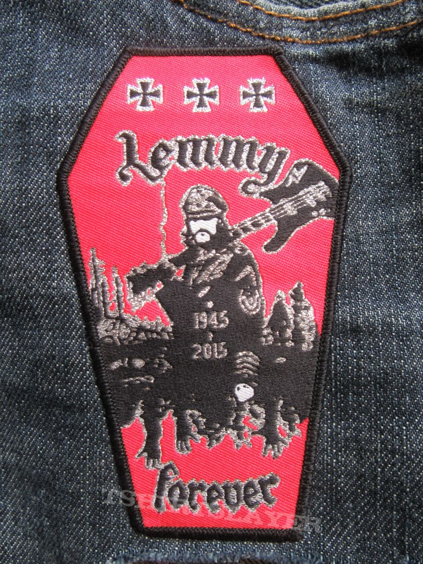 Coffin shaped Lemmy memorial Patch