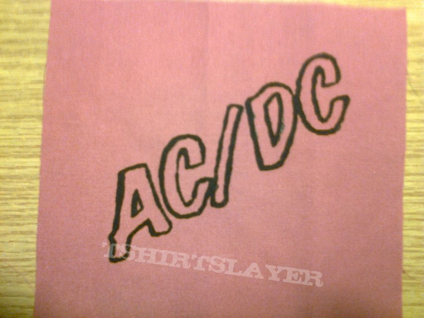 d.i.y. hand painted ac/dc patch