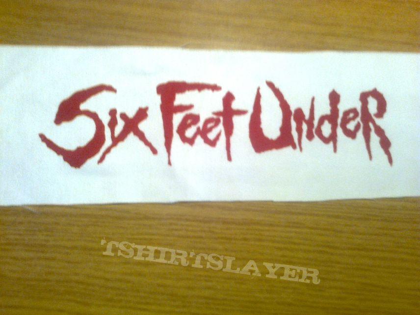 d.i.y. hand painted six feet under patch