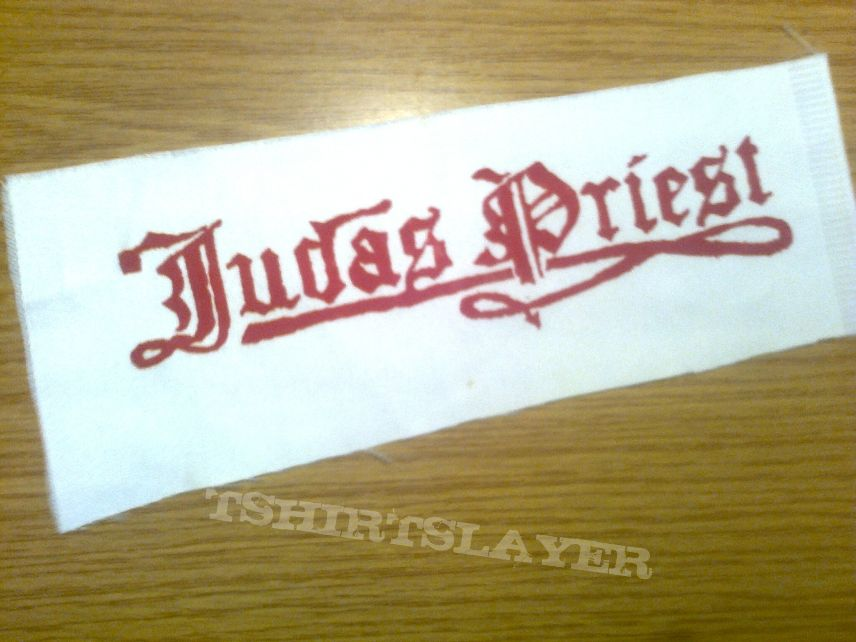 d.i.y. hand painted judas priest patch