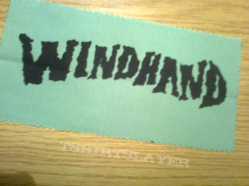 d.i.y. hand painted windhand patch