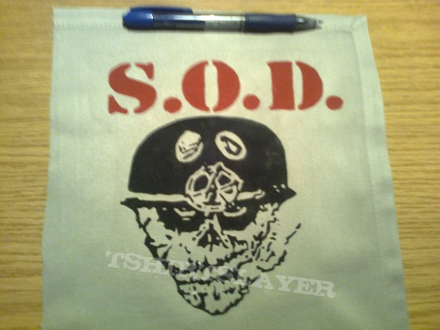d.i.y. hand painted s.o.d. patch