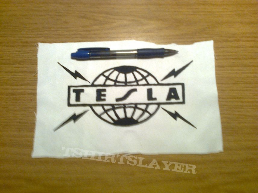 d.i.y. hand painted tesla patch
