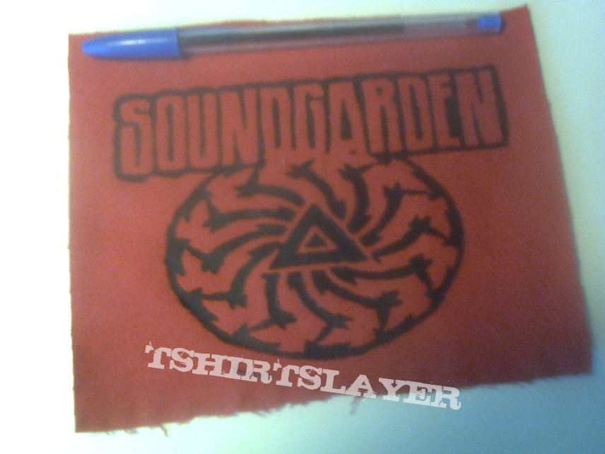 d.i.y. hand painted soundgarden patch