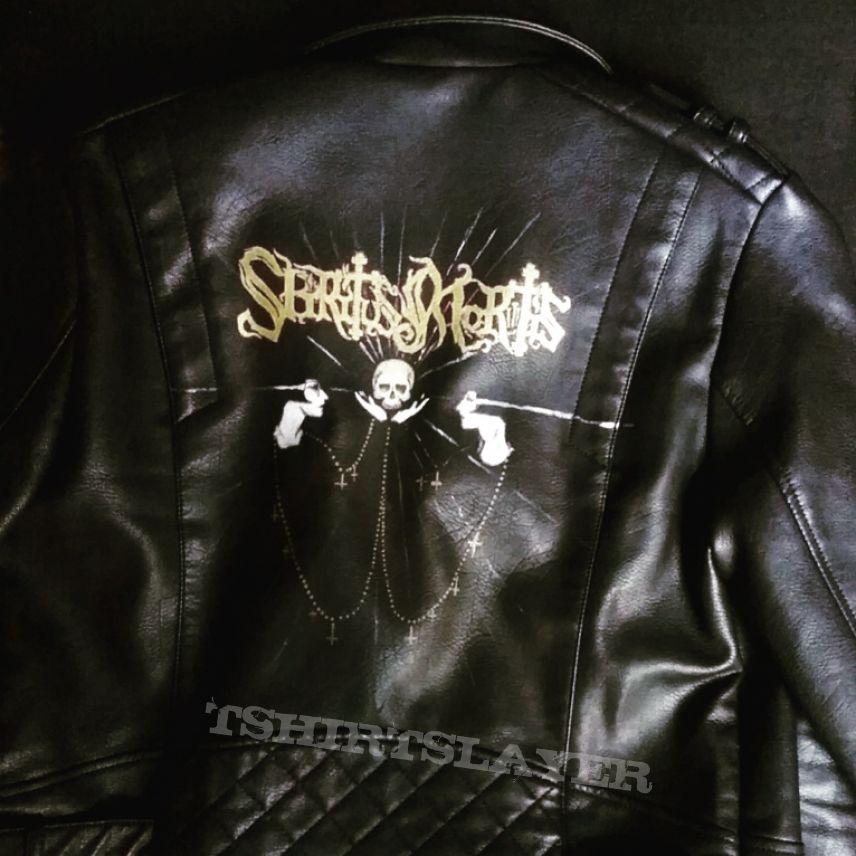 Handpainted (by me) Spiritus Mortis leather jacket DIY