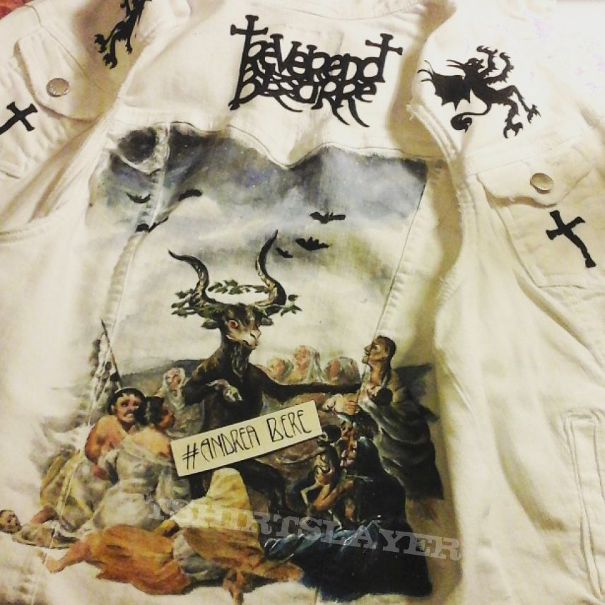 Reverend Bizarre themed vest DIY Handpainted by me One of a kind