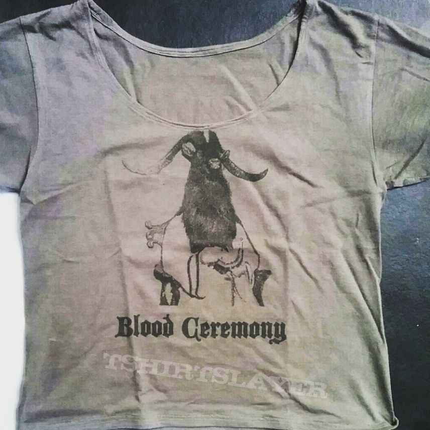 Blood Ceremony tee (with modified neck line)