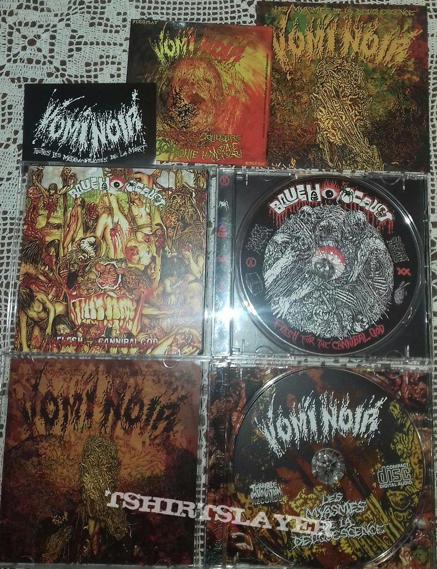 Vomi Noir – Les Myasmes De La Deliquescence CD, Blue Holocaust – Flesh For The Cannibal God CD