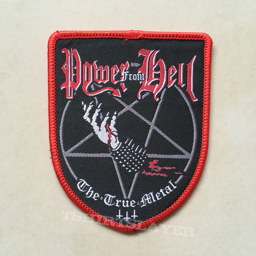 Power From Hell - The True Metal Shield Patch