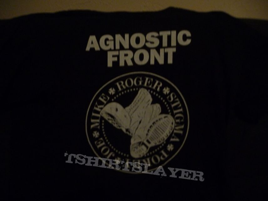 agnostic front boots t-shirt