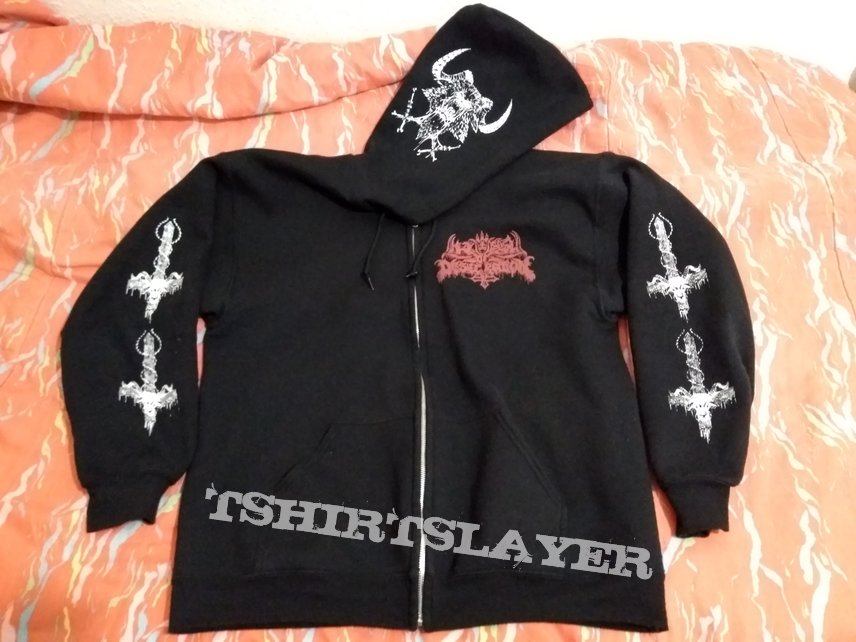 Liturgy of Desecration And the Goat of Sodomy Commands... zip-hoodie