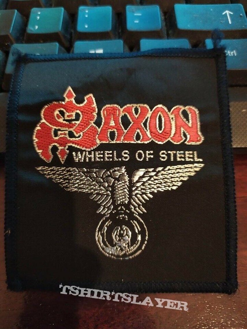 "Official Vintage Saxon ""Wheels Of Steel"" Patch (black-bordered version)"