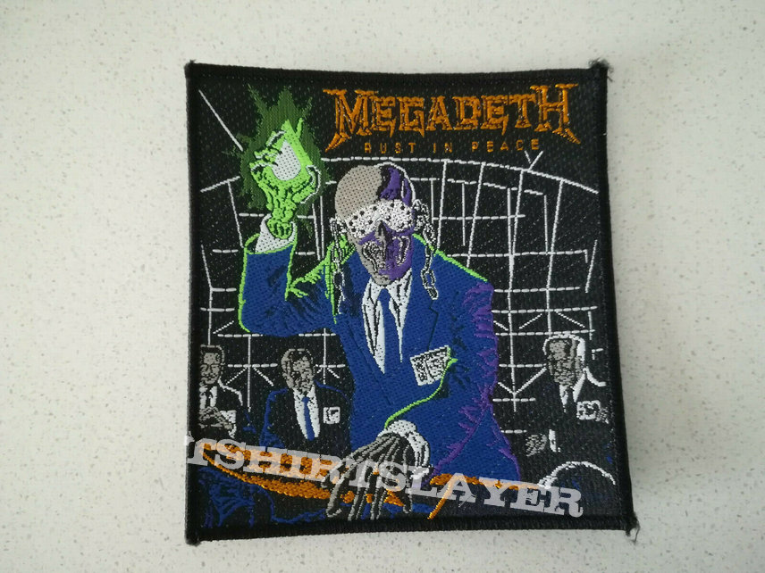 """Official Megadeth """"Rust In Peace"""" Patch"""