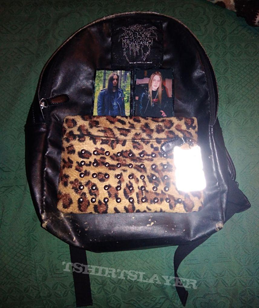 Darkthrone Leopard print backpack