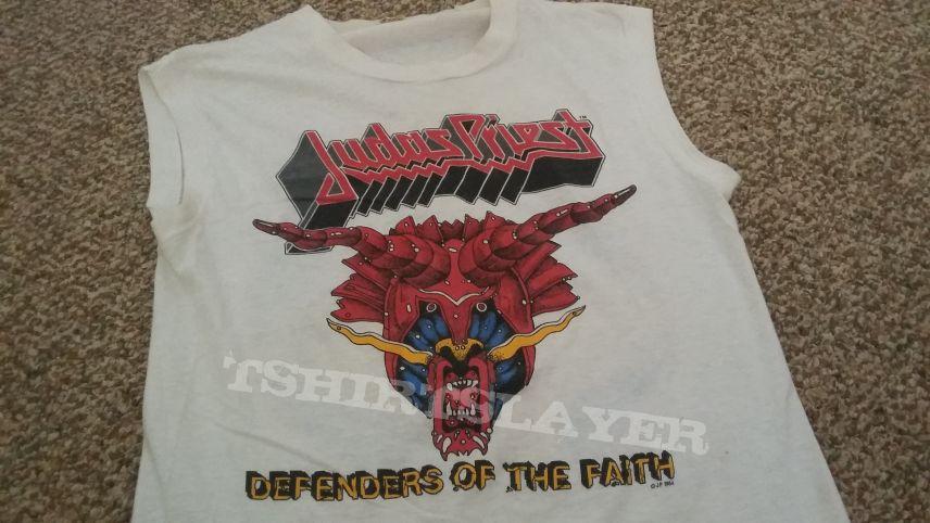 Judas Priest defenders of the Faith 1984 tour shirt