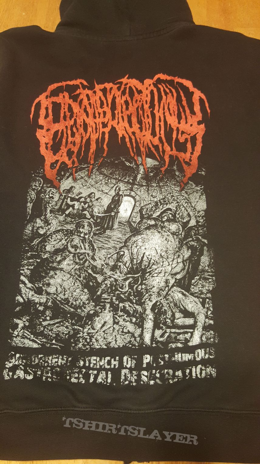 Epicardiectomy - Abohorrent Stench of Posthumous Gastrorectal Desecration - Zip Hoodie - L
