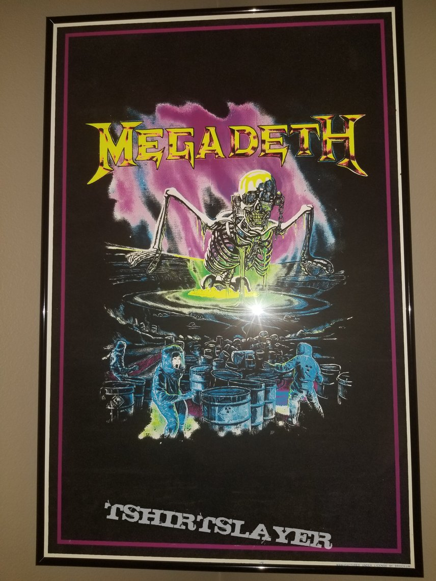 Megadeth Black Light Poster  Birth Of Vic