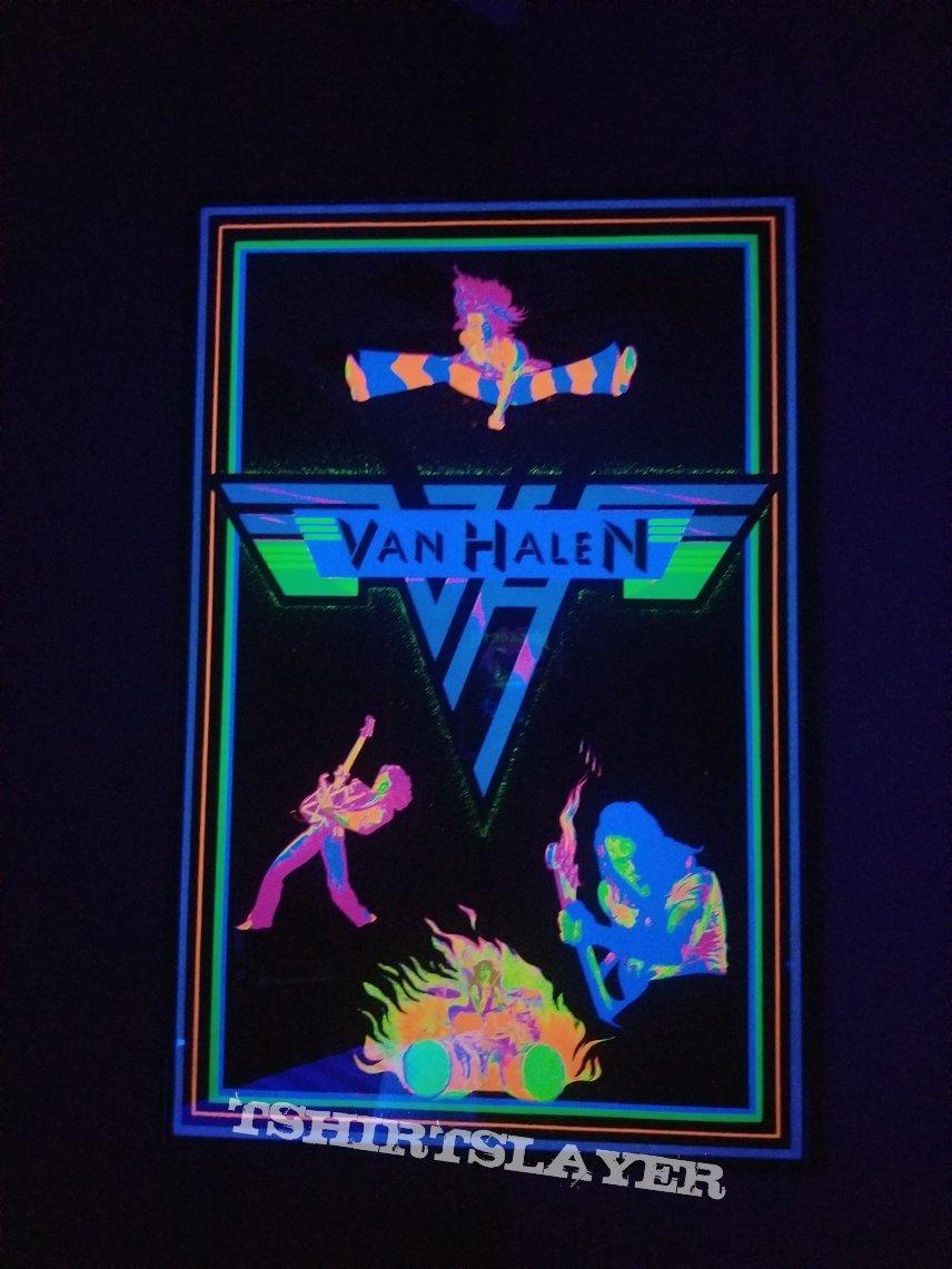 Van Halen Black Light Poster 1981