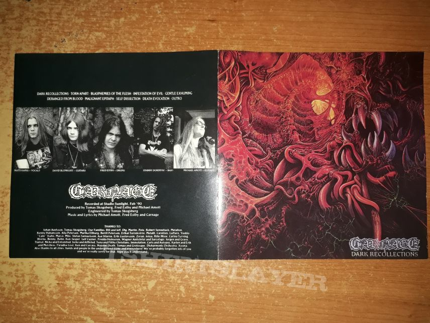 Carnage - Dark Recollections (First Press - CD)