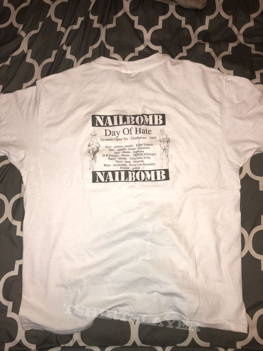"Nailbomb CREW ONLY Dynamo ""Day of Hate"" shirt"
