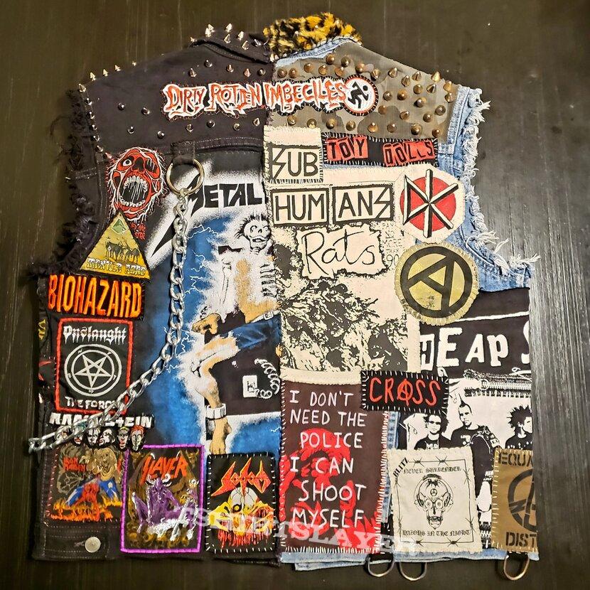 "Punk/Metal Hybrid ""Crossover"" battle jacket"