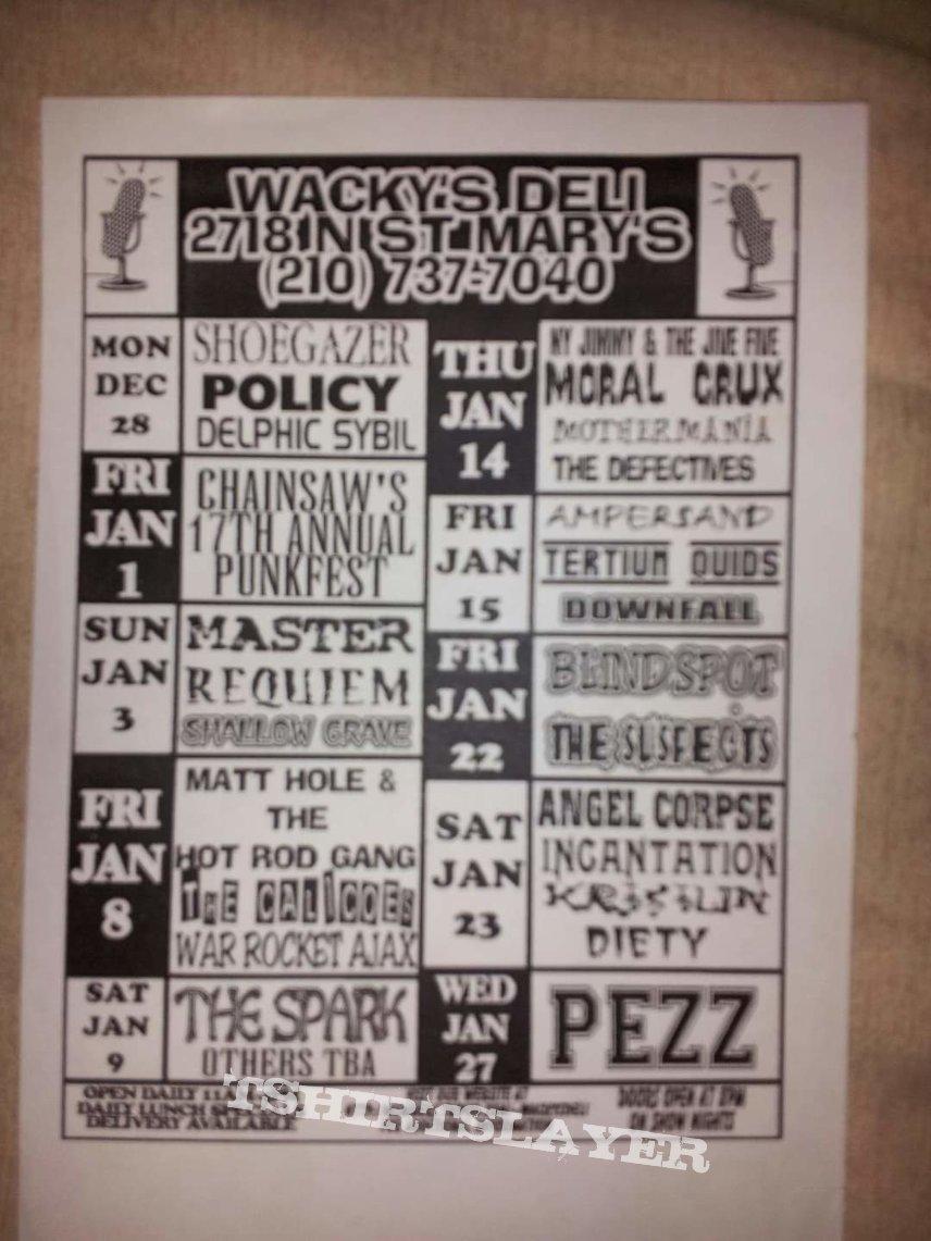 Wackys Deli flyer