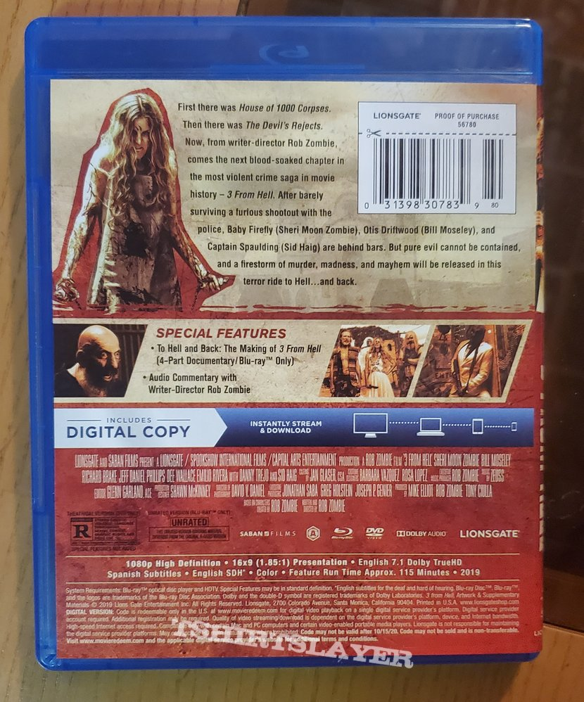 3 From Hell dvd